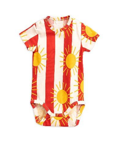 Sun stripe aop ss body-Red