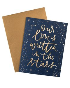 OUR LOVE IS WRITTEN IN THE STARS FOIL CARD