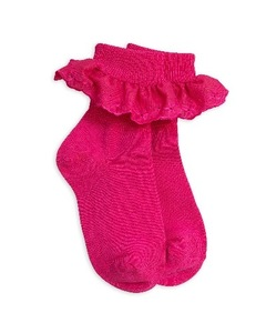 lace sock- pink