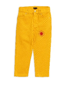 Twill jeans-Yellow