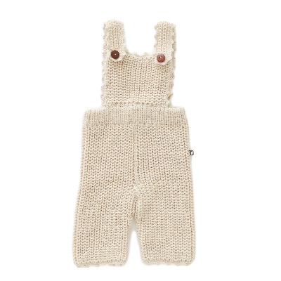 19FW English Overalls (100% baby llama) / white