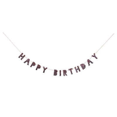 [MeriMeri] 메리메리 - Colored Glitter Birthday Mini Garland