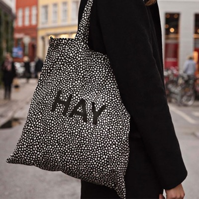 Hay Cotton Bag _ Black Dot HAY 에코백