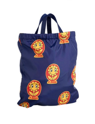 Mr flower drawstring bag - navy