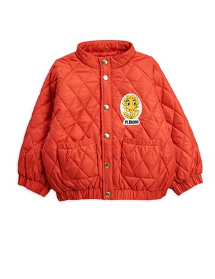 diamond quilted jacket -red