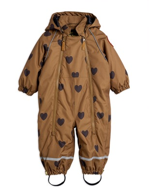kebnekaise hearts overall - brown