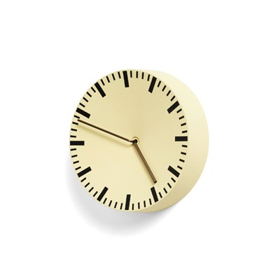 Hay Analog Wall Clock Light Yellow
