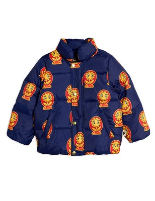 MR flower puffer jacket - navy