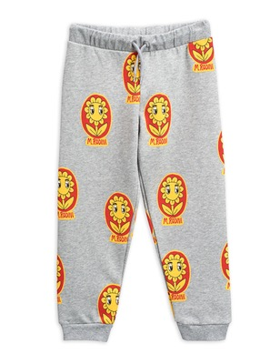 flower aop sweatpants - grey
