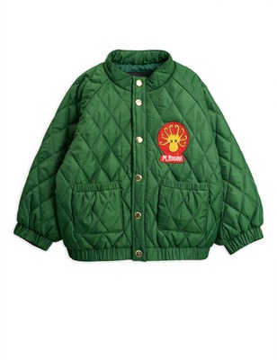 diamond quilted jacket -dark green